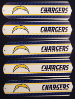 "New NFL LOS ANGELES CHARGERS 52"" Ceiling Fan BLADES ONLY"