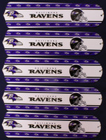 "New NFL BALTIMORE RAVENS 52"" Ceiling Fan BLADES ONLY"
