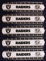 "New NFL OAKLAND RAIDERS 52"" Ceiling Fan BLADES ONLY"