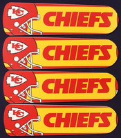 "New NFL KANSAS CITY CHIEFS 42"" Ceiling Fan BLADES ONLY"