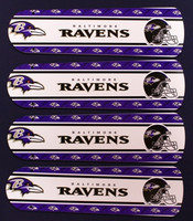 "New NFL BALTIMORE RAVENS 42"" Ceiling Fan BLADES ONLY"