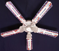 New NFL DENVER BRONCOS FOOTBALL Ceiling Fan 52""
