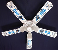 New NFL CAROLINA PANTHERS FOOTBALL Ceiling Fan 52""