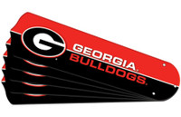 "New NCAA GEORGIA BULLDOGS 42"" Ceiling Fan Blade Set"