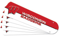 "New NCAA WISCONSIN BADGERS 52"" Ceiling Fan Blade Set"