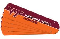 "New NCAA VIRGINIA TECH HOKIES 52"" Ceiling Fan Blade Set"