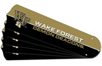 "New NCAA WAKE FOREST DEMON DEACONS 52"" Ceiling Fan Blade Set"