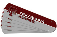 "New NCAA TEXAS A&M AGGIES 52"" Ceiling Fan Blade Set"