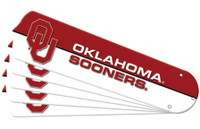 "New NCAA OKLAHOMA SOONERS 52"" Ceiling Fan Blade Set"