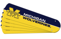 "New NCAA MICHIGAN WOLVERINES 52"" Ceiling Fan Blade Set"