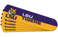 "New NCAA LSU TIGERS 52"" Ceiling Fan Blade Set"