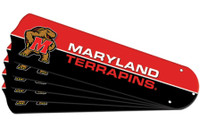 "New NCAA MARYLAND TERRAPINS 52"" Ceiling Fan Blade Set"