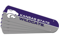 "New NCAA KANSAS STATE WILDCATS 52"" Ceiling Fan Blade Set"