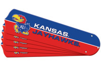 "New NCAA KANSAS JAYHAWKS 52"" Ceiling Fan Blade Set"
