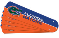 "New NCAA FLORIDA GATORS 52"" Ceiling Fan Blade Set"