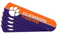 "New NCAA CLEMSON  TIGERS 52"" Ceiling Fan Blade Set"