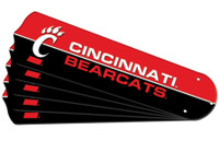 "New NCAA CINCINNATI BEARCATS 52"" Ceiling Fan Blade Set"