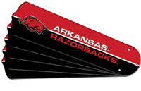 "New NCAA ARKANSAS RAZORBACKS 52"" Ceiling Fan Blade Set"