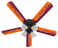 "New NCAA VIRGINIA TECH HOKIES 52"" Ceiling Fan"