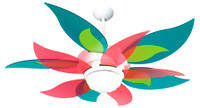 "New CRAFTMADE BLOOM 52"" Ceiling Fan with CANDY BLADES"