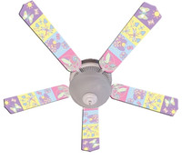 New BABY NURSERY HAPPY WINGS Ceiling Fan 52""