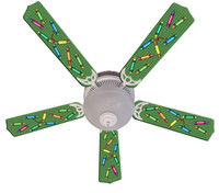New KIDS COLORFUL CRAYONS Ceiling Fan 52""