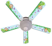 New BABY MONKEY MISCHIEF with BANANA Ceiling Fan 52""
