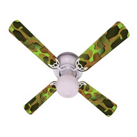 New CRAZY CAMO Ceiling Fan 42""