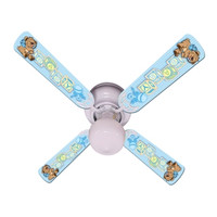 New BABY NURSERY TOYS BLOCKS BLUE Ceiling Fan 42""