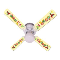 New BABY NURSERY TOYS BLOCKS YELLOW Ceiling Fan 42""