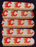 "New NHL CALGARY FLAMES 52"" Ceiling Fan BLADES ONLY"
