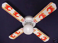 New NHL CALGARY FLAMES HOCKEY Ceiling Fan 42""