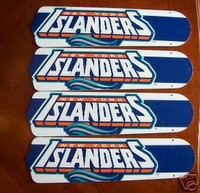 "New NHL NEW YORK ISLANDERS 42"" Ceiling Fan BLADES ONLY"