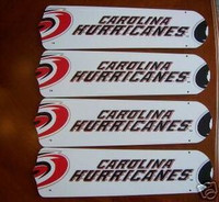 "New NHL CAROLINA HURRICANES 42"" Ceiling Fan BLADES ONLY"
