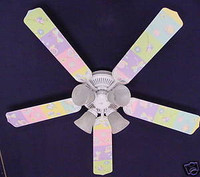 New KIDSLINE KIDS LINE GOSSAMER WINGS Ceiling Fan 52""
