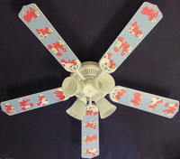 New SESAME STREET BABY NURSERY ELMO Ceiling Fan 52""
