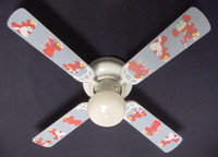 New SESAME STREET BABY NURSERY ELMO Ceiling Fan 42""