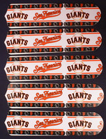 "New SAN FRANCISCO GIANTS 52"" Ceiling Fan BLADES ONLY"