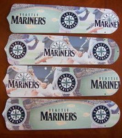 "New MLB SEATTLE MARINERS 42"" Ceiling Fan BLADES ONLY"