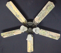 New ARMY TANKS MILITARY HELICOPTER Ceiling Fan 52""