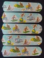 """New CURIOUS GEORGE MONKEY 52"""" Ceiling Fan BLADES ONLY"""