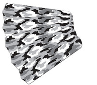 "New CAMOFLAUGE CAMO SNOW BLACK & WHITE 52"" Ceiling Fan BLADES ONLY"