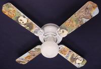 "New BABY SAFARI ELEPHANT LION ZEBRA Ceiling Fan 42"""