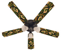New CAMOFLAUGE CAMO GREEN Ceiling Fan 52""