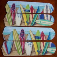 "New HAWAIIAN SURFBOARDS 42"" Ceiling Fan BLADES ONLY"