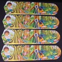 "New GO DIEGO GO DORA 42"" Ceiling Fan BLADES ONLY"