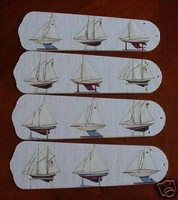 New MODEL SAILBOAT BOATS SCHOONER Ceiling Fan 52""