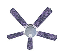 New EXOTIC PURPLE LEOPARD SKIN PRINT Ceiling Fan 52""