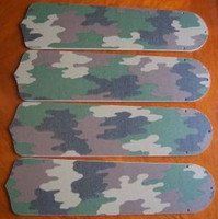 "New CAMOFLAUGE CAMO ARMY 42"" Ceiling Fan BLADES ONLY"