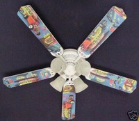 New 50's JUKEBOX HOT ROD BURGER DINER Ceiling Fan 52""